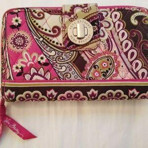 "Vera Bradley Raspberry Fizz Wallet 8 x 4.5"""